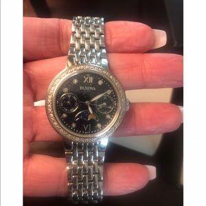 Bulova diamond moon phase watch